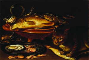 Clara Peeters, Still Life of Fish and Cat, National Museum of Women in the Arts, D.C. Gift of Wallace and Wilhelmina Holladay