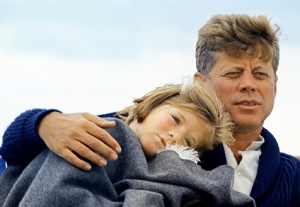 Caroline with her father in August, 1963