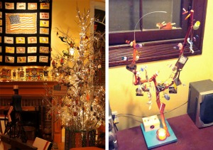 Barb's holiday tree and Polly's vision tree