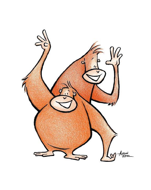 orangutangled art Aaron Zenz