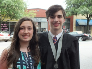 The graduate and his sister.
