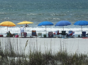 We take our beach umbrellas seriously. We buy them from life guard equipment suppliers, and we've had the oldest two for over 40 years!