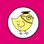 Nerdy Chicks Logo with CIRCLE - TASSEL - DIPLOMA - pink background