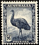 To show the great respect the emus had earned, the Australian government honored the species on a stamp.